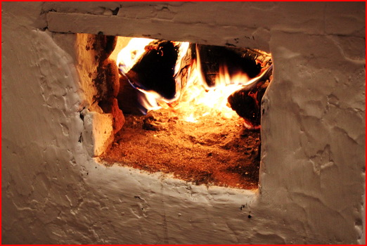 Wood burning stove in Olkhon island - Khuzir village