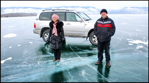 Lake Baikal winter tours - Olkhon island ice formations 2014